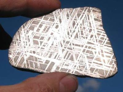 Etched Iron Meteorite